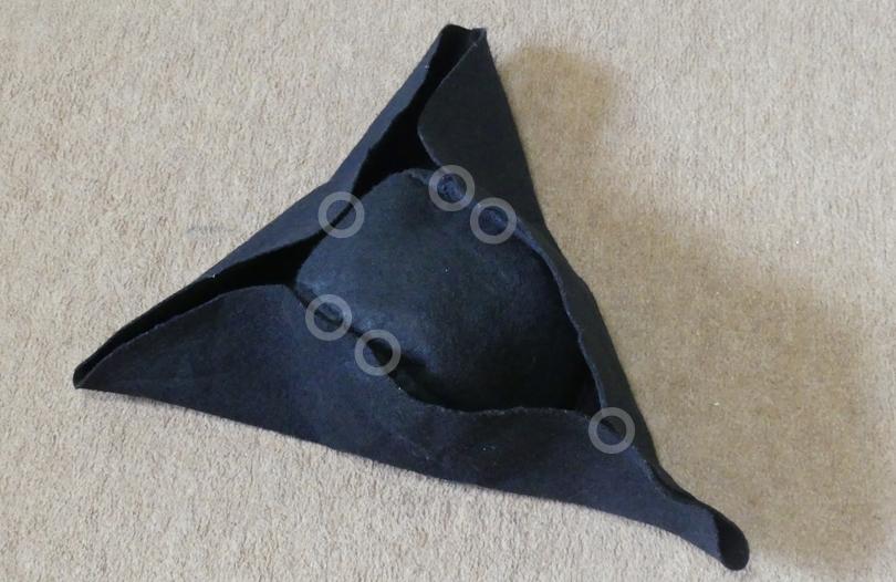 ツバ部分の折り方