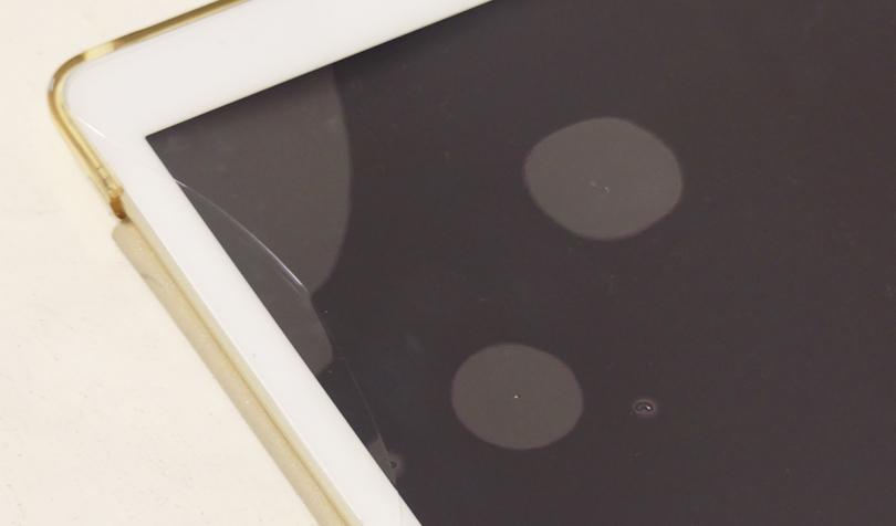 iPadの液晶フィルムが割れる