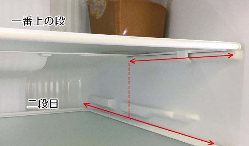 冷蔵庫の奥行