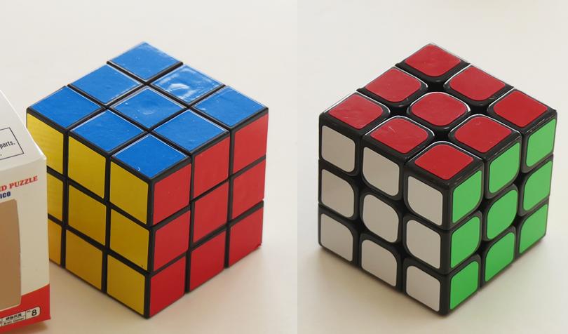 ダイソーのルービックキューブとスピードキューブ