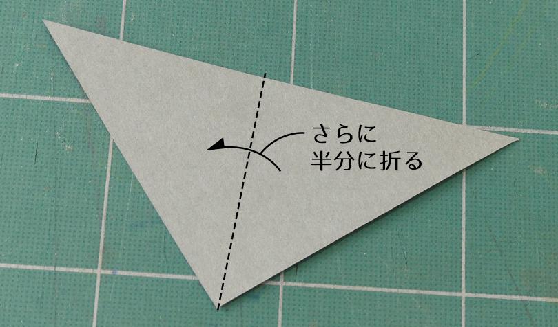 三角形を半分に折る