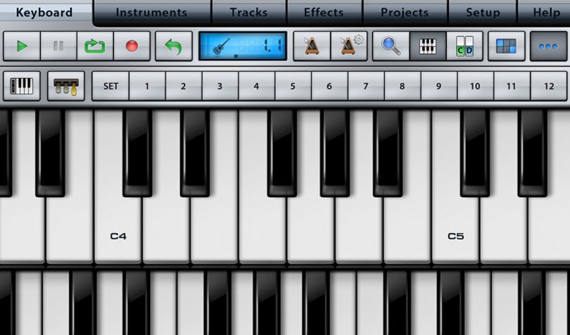 MusicStudioのキーボード