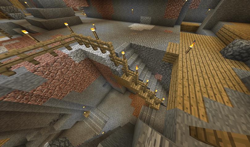 渓谷への階段2