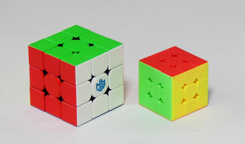 ルービックキューブの大きさの違い