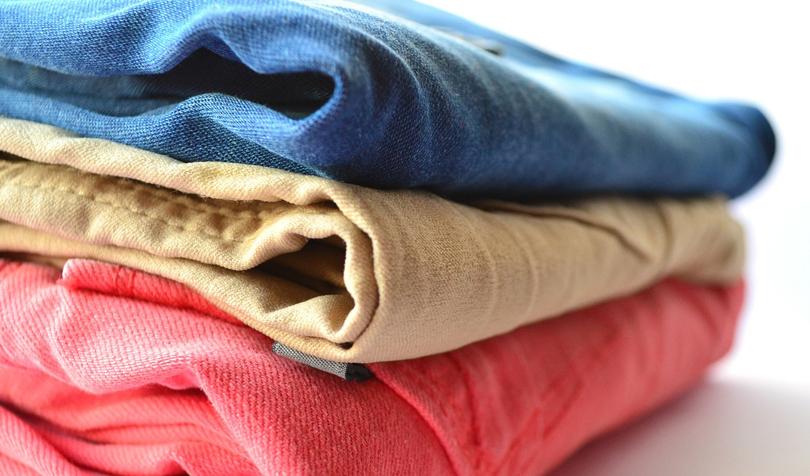 洗濯済みの服