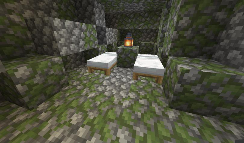 地下のベッド