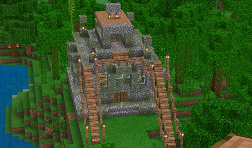 リノベーションしたジャングルの寺院