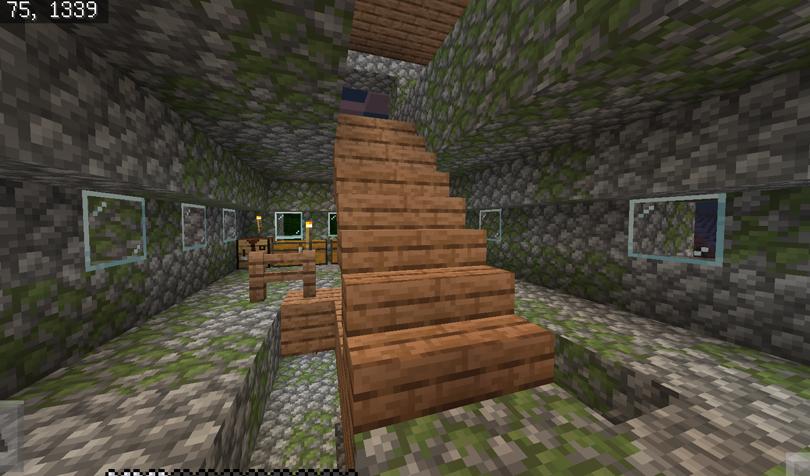 屋上へ上がる階段