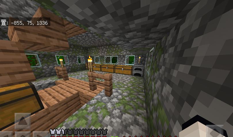 ジャングルの寺院の2階