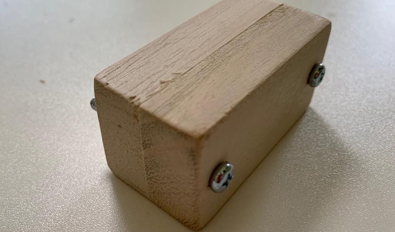 くっつけた木片