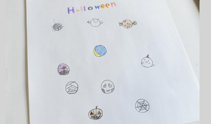 子どもが描いたハロウィンイラスト