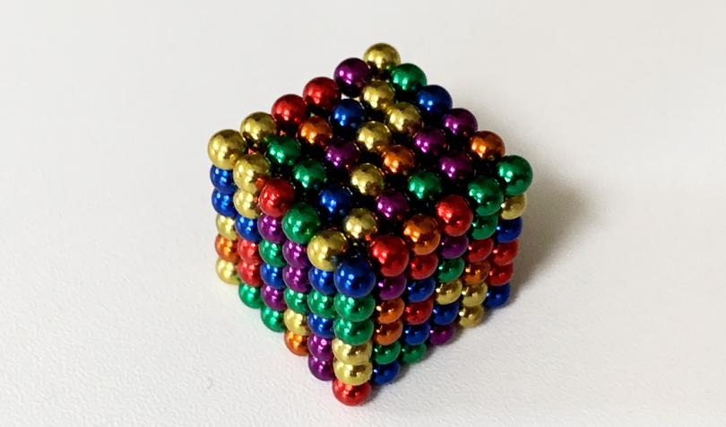 立方体のマグネットボール
