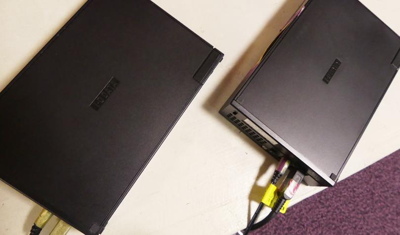 2台のHDD