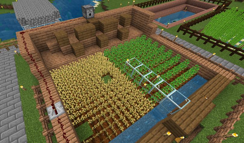 小麦自動収穫機
