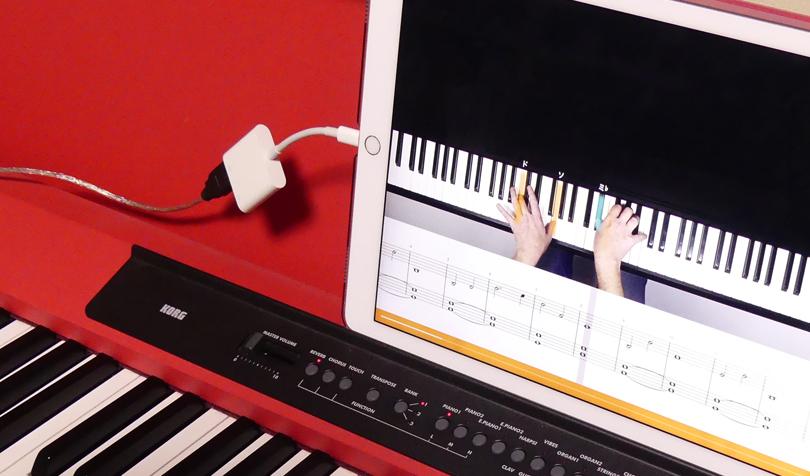 MIDIケーブルを接続